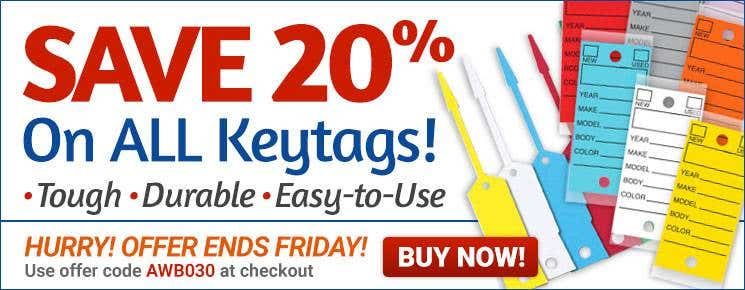 20% off Keytags