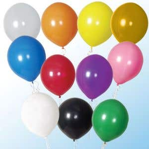 """17"""" Latex Balloons - Outdoor Use, Standard Colors"""
