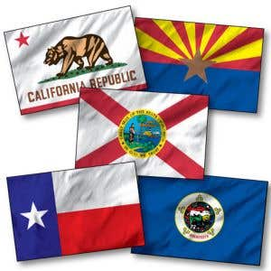 State Flags - 5' w x 3' h