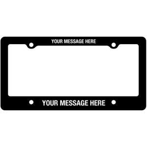 License Plate Frames - Raised Print - Style C