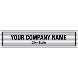Personalized Vehicle Decals - Brushed Chrome Look