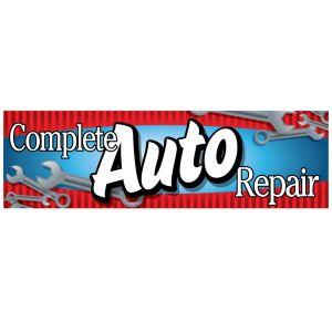 """Vinyl Banner - """"Complete Auto Repair"""""""