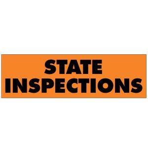 "Vinyl Banner - ""State Inspections"""