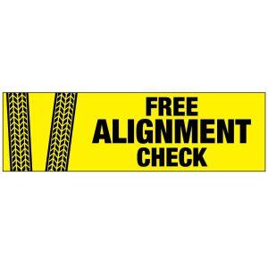 "Vinyl Banner - ""Free Alignment Check"""