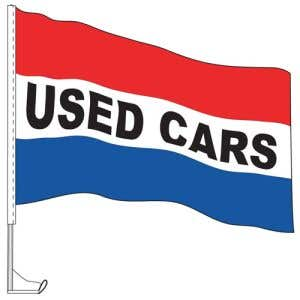 Car Flag with Window Clip -