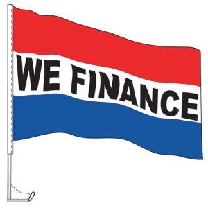 "Car Flag with Window Clip - ""We Finance"""