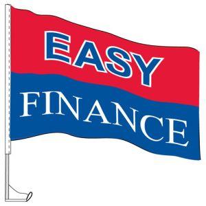"Car Flag with Window Clip - ""Easy Finance"""
