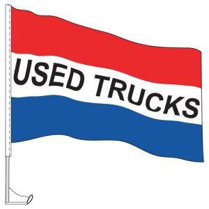 "Car Flag with Window Clip - ""Used Trucks"""