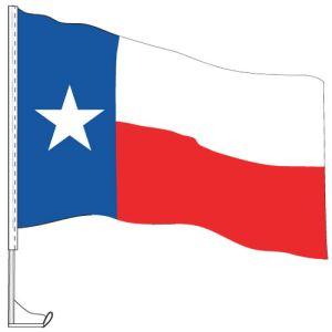 Car Flag with Window Clip - Texas