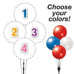Pick Your Colors - Reusable Balloon Diamond Clusters