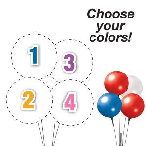 Pick Your Colors - Reusable 4 Balloon Quad Cluster