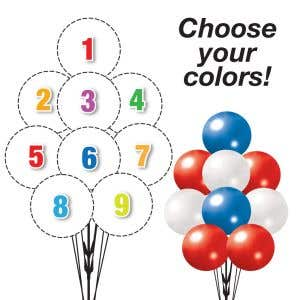 Pick Your Colors - Mega 9 Balloon Cluster