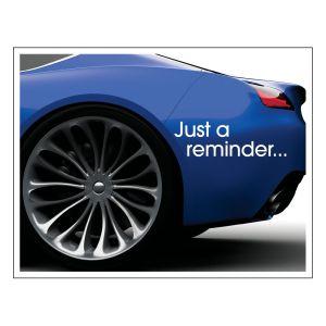 Laser Postcard - Blue Car