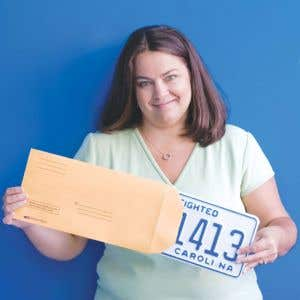 Preprinted License Plate Envelope