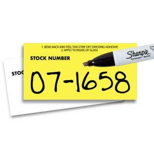 Blank Stock Number Decals