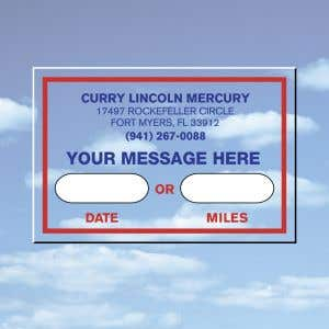 Static Cling Sticker with YOUR Message