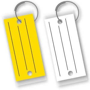 Laminated Key Tags with Lines