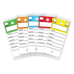 Color Top Laminated Key Tags