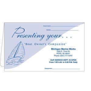Boat Document Wallet - Blue Wave