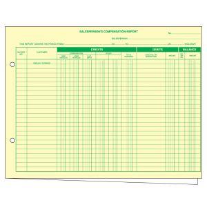 Salesperson's Compensation Report