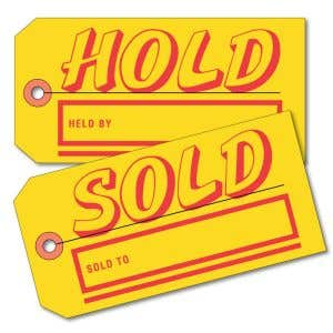 Regular Size Hold Sold Tag - 2 Sided