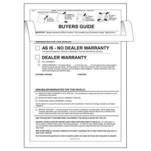 """""""As Is"""" Buyers Guide with Cover"""