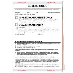 """Implied Warranties Only"" Buyers Guide"