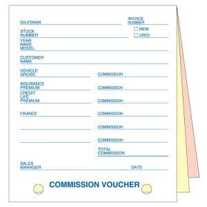 Commission Voucher - 3 Part