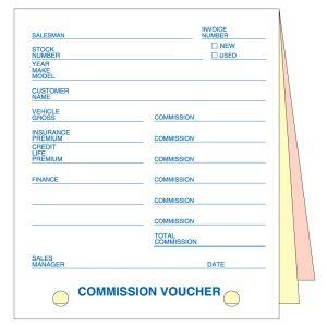 Commission Voucher - 3 Part