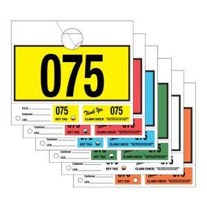 3 Part Service Department Hang Tags