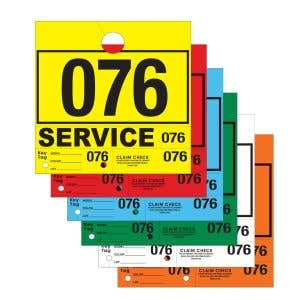 4 Part Service Department Hang Tags