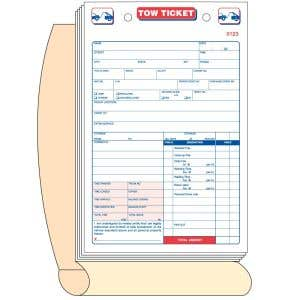Tow Ticket Book without Personalization