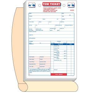 Tow Ticket Book with Personalization