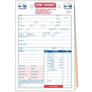 Tow Ticket with Personalization
