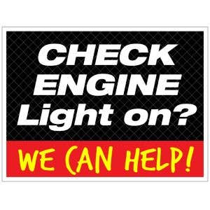 """Curb Sign - """"Check Engine Light on?"""""""