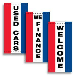 Vertical Message Flags - Red, White, Blue