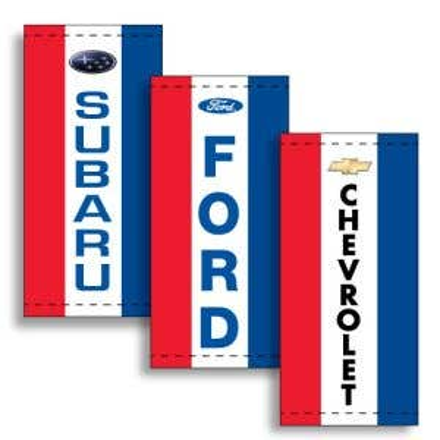 Vertical Dealer Flags - Red, White, Blue