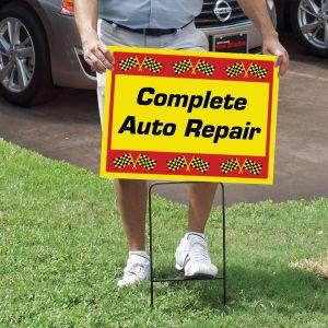 Curb Sign Holder