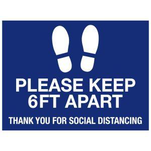 """Social Distancing Floor Decals - 24"""" x 18"""""""