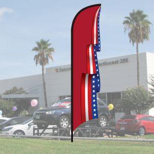 3D Wave Flag Kits - Patriotic Scroll - Red