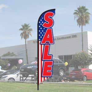 3D Wave Flag Kits - American Sale - Red