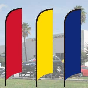 Wave Flag Ground Spike Kits - Solid Colors
