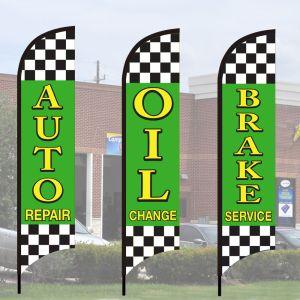 Service Wave Flag Kits - Raceway Checkered