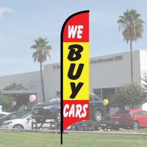 """Sales Wave Flag Kits - """"We Buy Cars"""""""