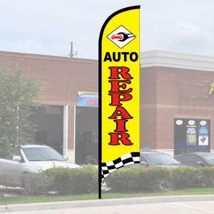 "Service Wave Flag Kits - Yellow ""Auto Repair"""