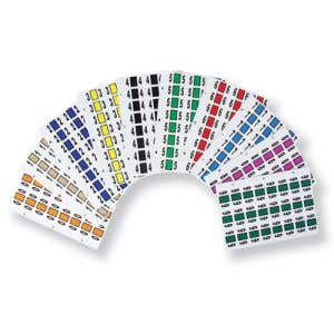 Kit includes a total of 2400 Labels, Numbers 0 - 9.
