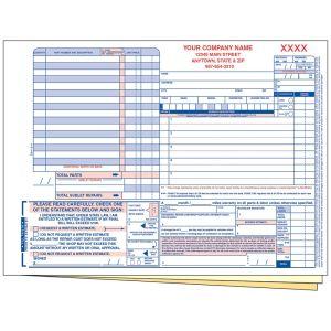 Customer Repair Order - 3 Part with Personalization