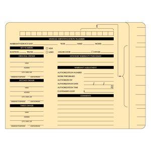 Printed ServiceFile File Folder