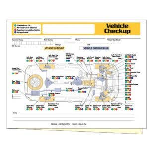 Vehicle Checkup Diagram Form without Personalization