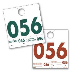 Service Dispatch Numbers - White